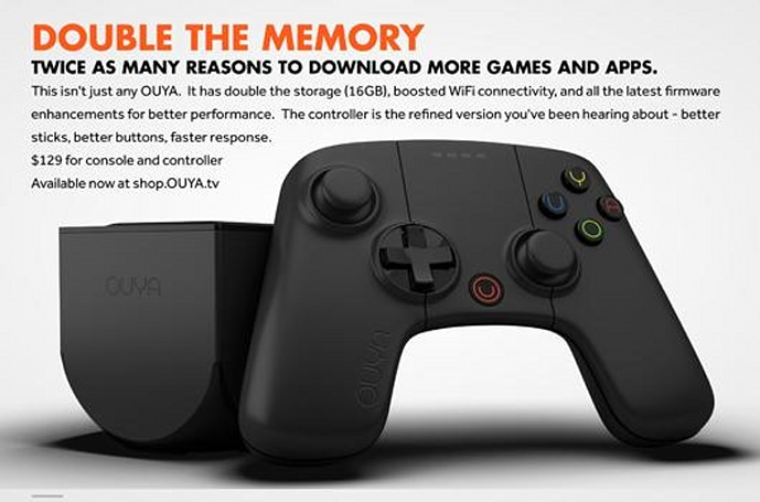 New Ouya console now available for $130