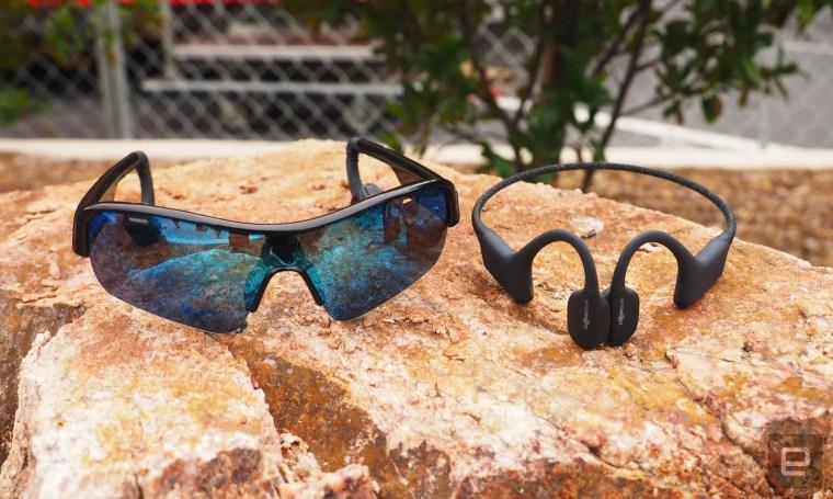 OptiShokz built bone conduction audio sunglasses