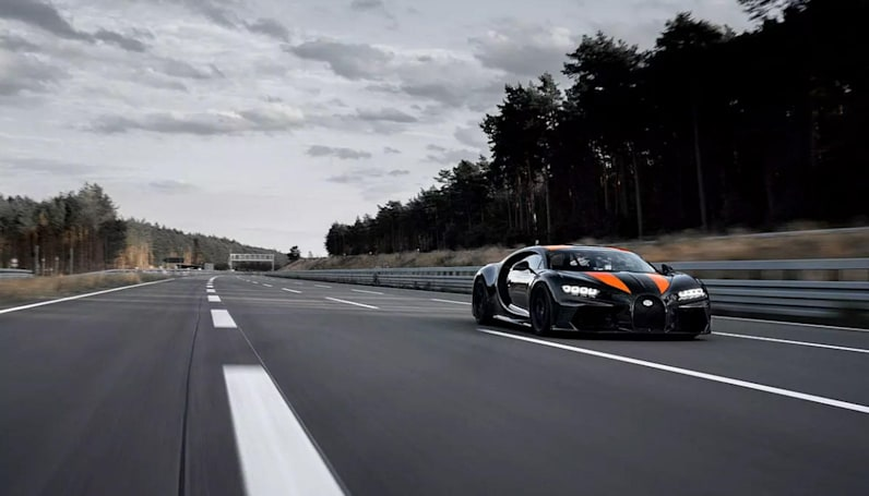 Bugatti's record-breaking speed run required special wheels and nerves of steel