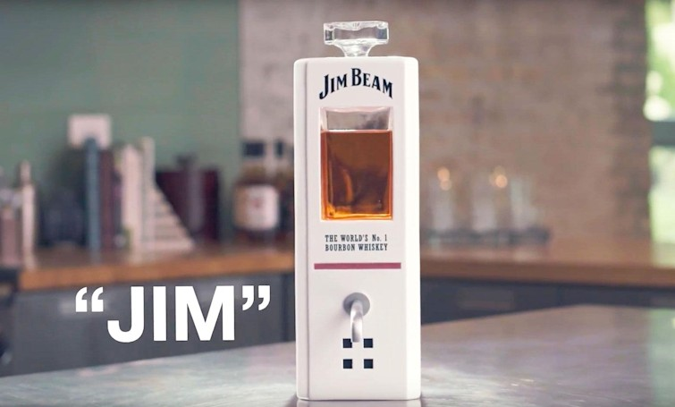 Jim Beam's smart decanter will pour you a shot when you ask