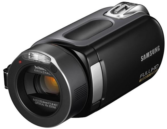 Samsung's HMX-H106 Full HD camcorder with 64GB SSD takes first peek at retail