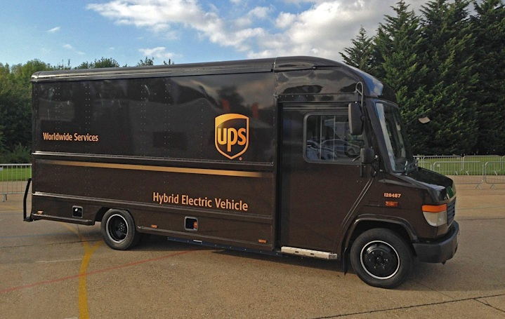 UPS hybrid trucks automatically switch to EV mode in cities