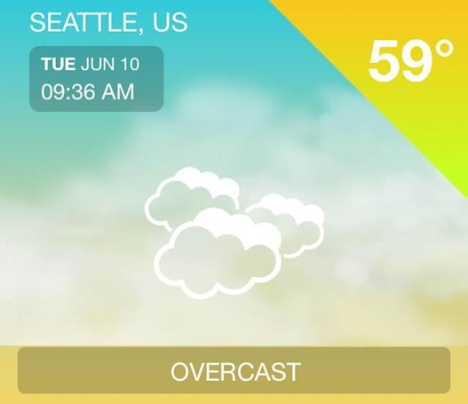 iWeather has some clever features in a crowded field
