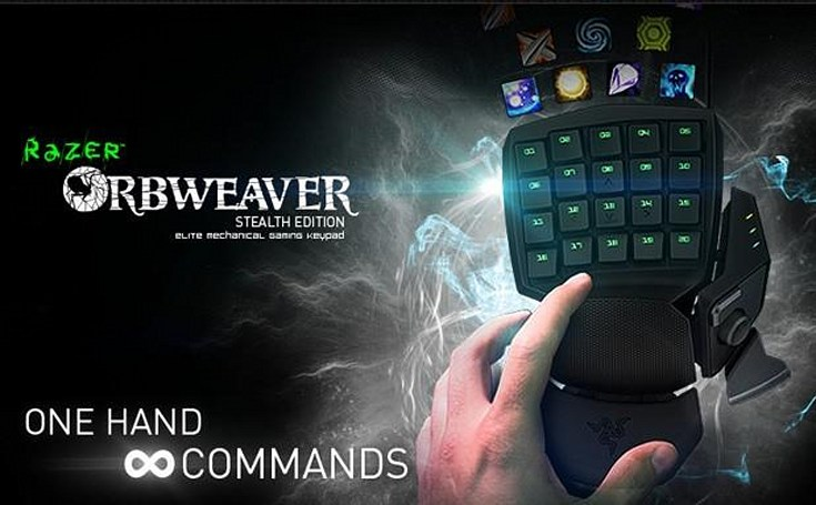 Razer promises sneakier sneak attacks with $130 Orbweaver Stealth Edition mechanical keypad