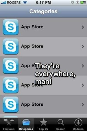 Oh, Canada: App Store north of the border goes all Skype-y