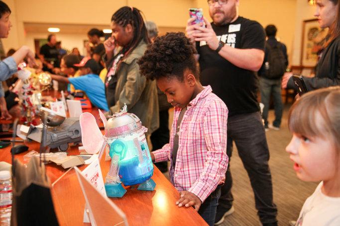 Kids judge R2-D2 droids built by Facebook, Google and Fitbit