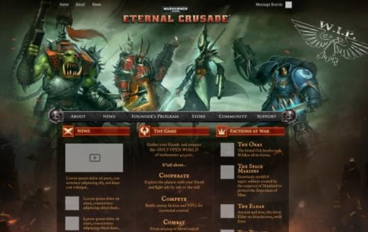 Eternal Crusade delivers sneak peek of new website and founder's program heroes