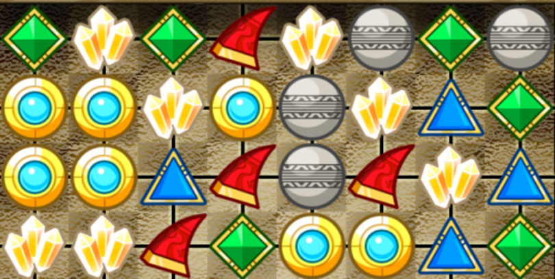 Unlock Knack items (eventually) in free iOS match-3 game, out now
