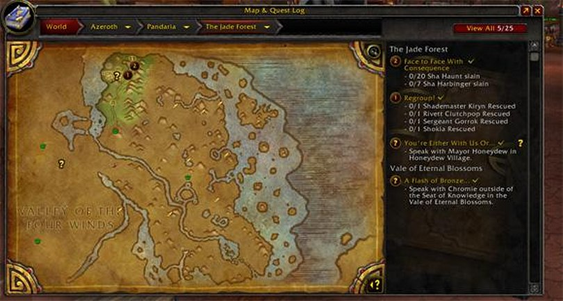 Warlords of Draenor: New quest and map interface
