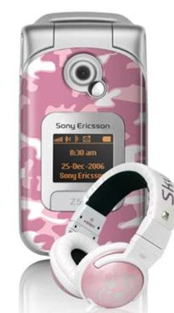Sony Ericsson rolls pink camo Z530i