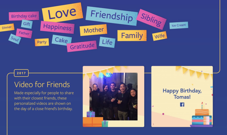 Facebook helps you celebrate birthdays with videos and fundraising