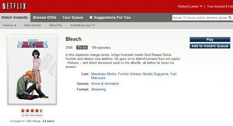 Netflix deal with Viz Media brings more anime with subbed eps of Inuyasha, Bleach, Naruto