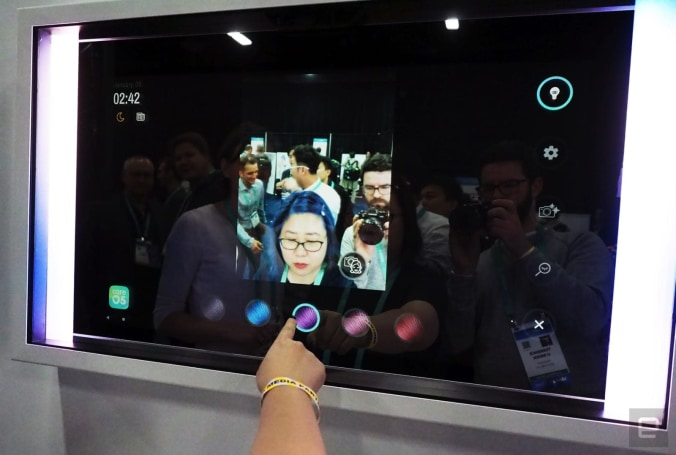 The Poseidon smart mirror can be customized to your needs