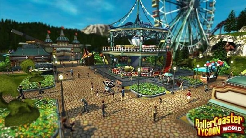 RollerCoaster Tycoon World screens show worlds of fun