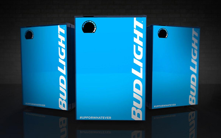 Bud Light's connected fridge ensures you never run out of beer