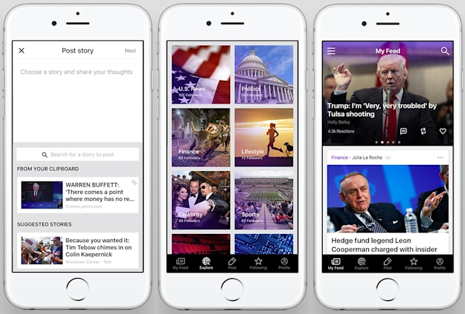 Yahoo's reworked mobile app is all about sharing news