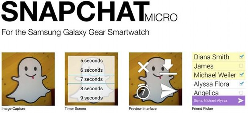 Snapchat Micro will bring disappearing messages to Samsung's Galaxy Gear
