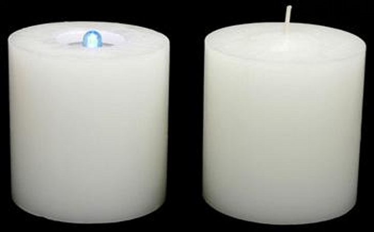 Self-Destructo Candle, shines with your choice of natural or artificial light