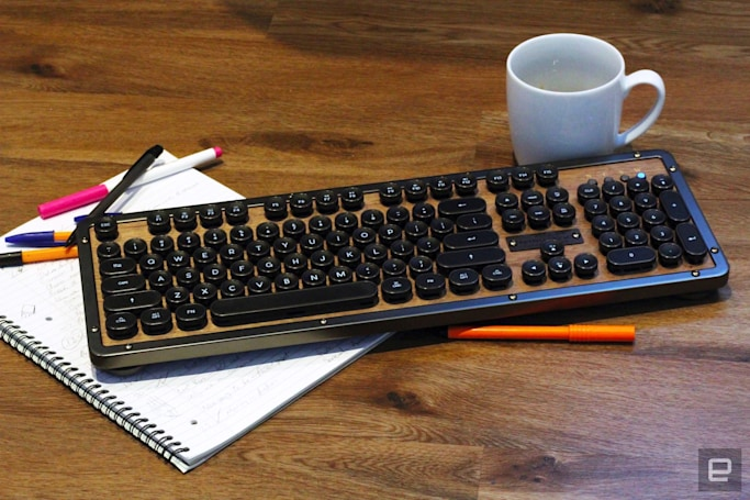 Azio's Retro Classic keyboard is luxurious, but imperfect