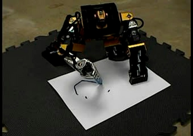 Robot draws happy face, gets angry