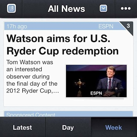 Track the Ryder Cup with Sportfusion Unofficial News Edition
