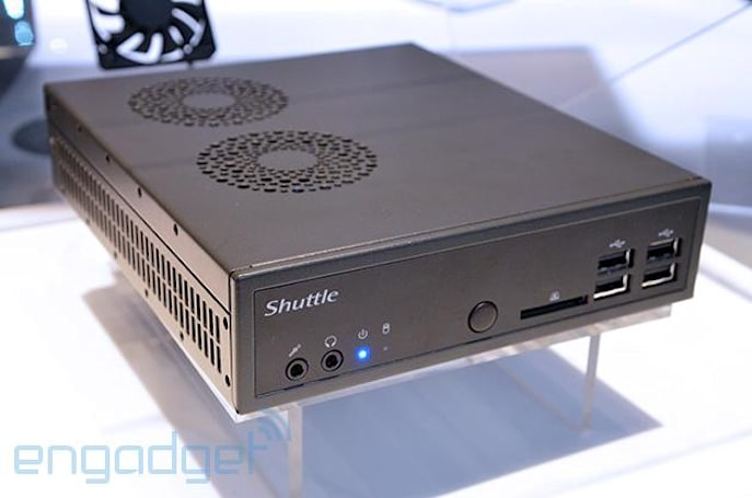 Shuttle runs a Haswell Core i7 in a case barely bigger than a disk drive
