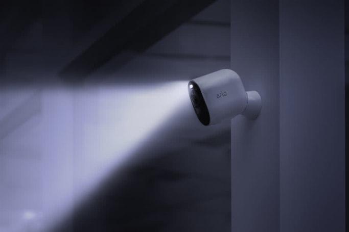 Arlo's new security camera has a 4K sensor and built-in spotlight