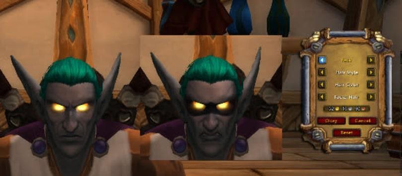 Warlords of Draenor Beta: Face Re-customization via Barber Shop