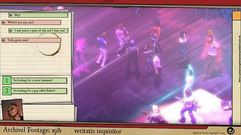 Alternate 1980s RPG Majestic Nights is one big conspiracy