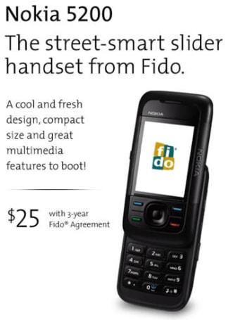 Fido outs Nokia 5200
