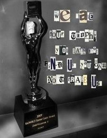 Has DiskWarrior's Eddy award been statue-napped?