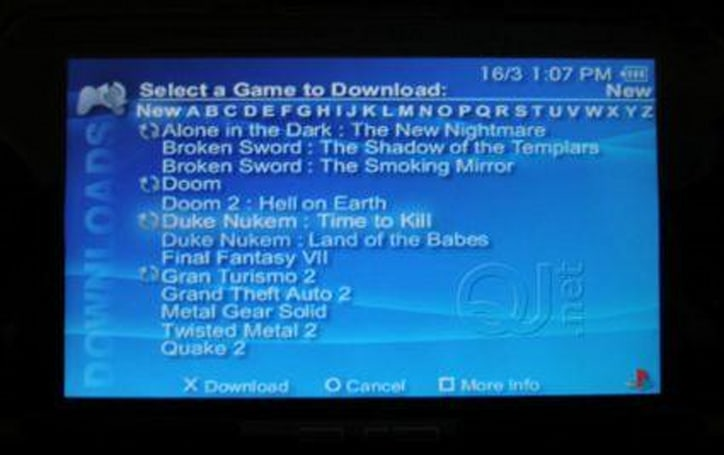 PSP download service launching simultaneously with PS3