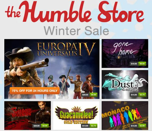 Humble Store Winter Sale encore discounts best-sellers for 72 hours