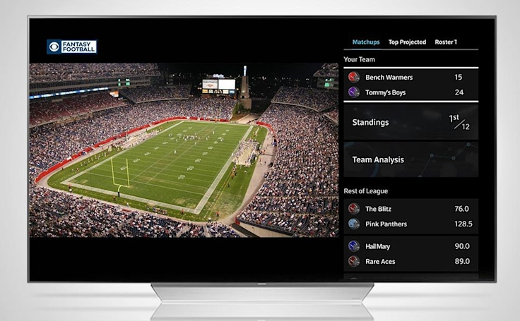 CBS, Comcast deal brings fantasy football to your cable box