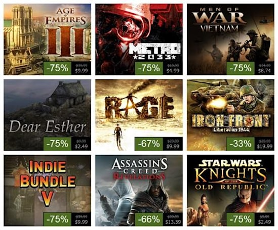 Steam Summer Sale, Day 5: Metro 2033, RAGE, Assassin's Creed: Revelations and more