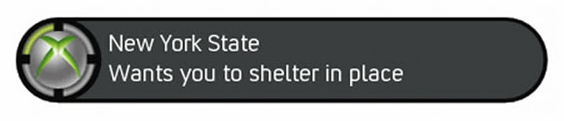 New York State will issue emergency alerts via Xbox Live