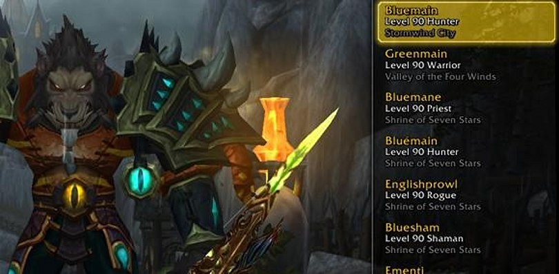 Player packs entire WoW account with level 85+ characters