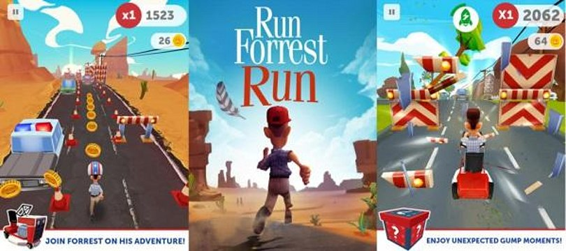 Forrest Gump gets translated to appropriate video game genre