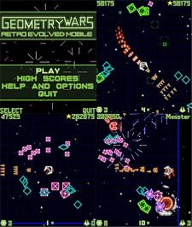 Geometry Wars Mobile published by Sony