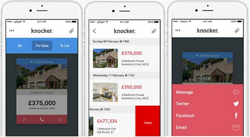 Swipe into your new home with the Knocker real estate app