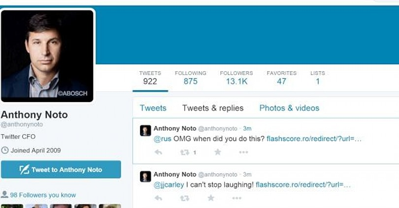 Twitter's CFO is not very good at using Twitter (update)
