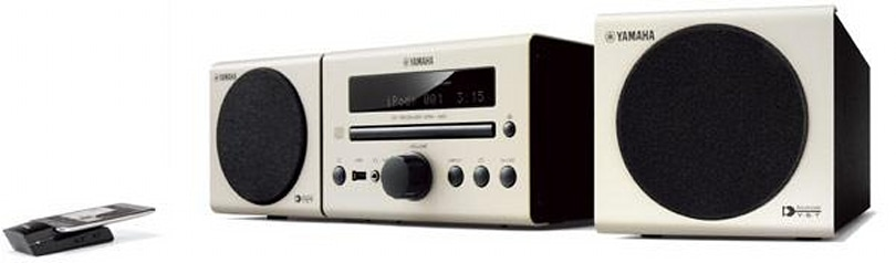 Yamaha's yAired-equipped MCR-140 micro stereo wirelessly talks to iPods and subwoofers