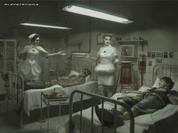 Chilean PS3 ads show gamer giving blood transfusion to a Nazi