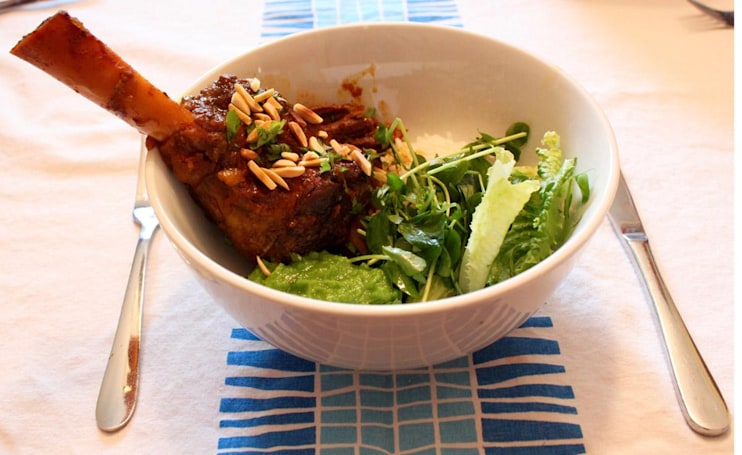 Watson's melt-in-your-mouth Moroccan almond curry