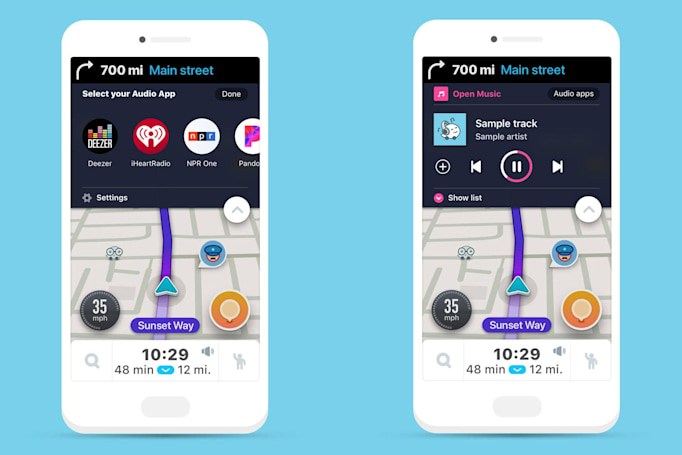 Waze adds built-in audio player to spice up your commute