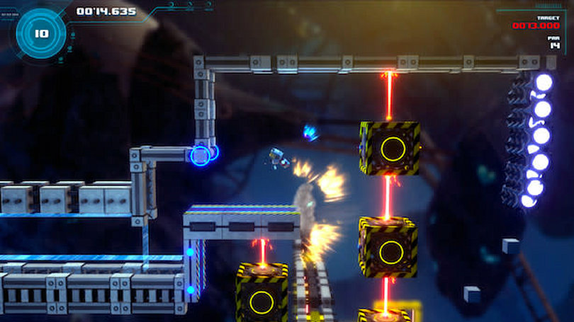 Tinertia is a platformer with rockets instead of a jump button
