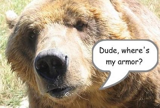 Shifting Perspectives: Dude, where's my armor?