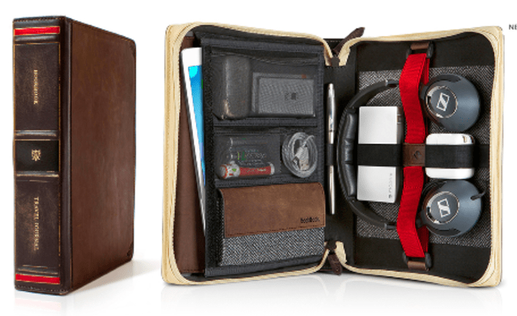 Twelve South BookBook Travel Journal: Beautiful leatherbound travel case
