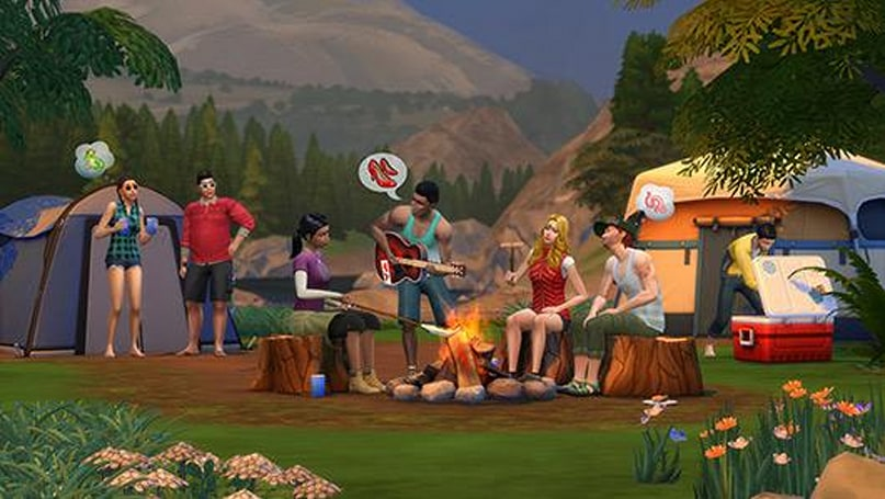 Sims 4 visits an Outdoor Retreat, jumps to Mac in February