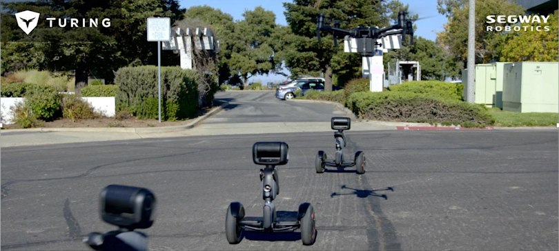 Turing's Segway-based patrol robot can give humans a ride